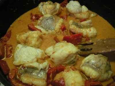 recette - lotte exotique au curry