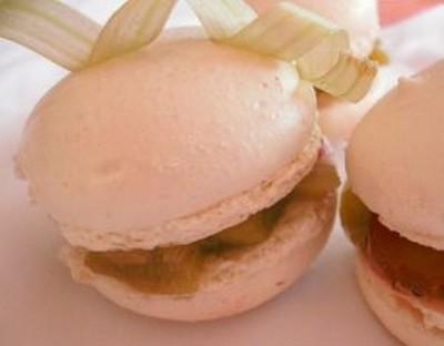 recette - macarons rhubarbe et fraise