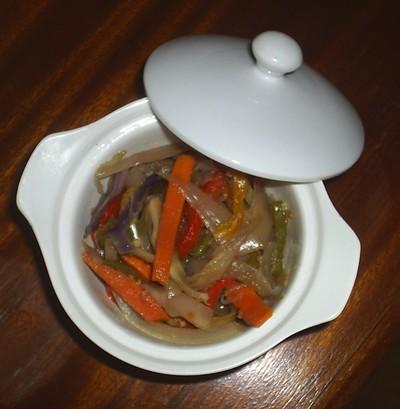 recette - marmite de légumes parfumés à l'huile d'argan