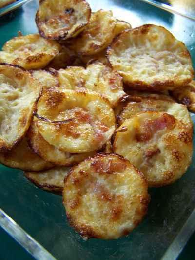 recette - mini quiche lorraine sans pâte
