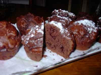 recette - muffins cacao amer et pépites