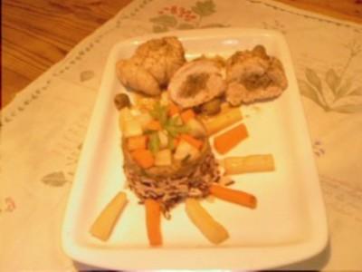 recette - paupiettes de dinde au coeur d'aubergine