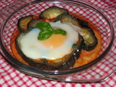 recette - petit nid d'aubergine