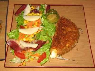 recette - salade composée et son reblochon pané