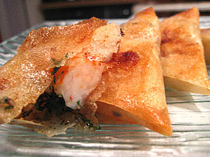 recette - samoussas aux crevettes... à ma façon