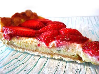 recette - tarte aux fraises et chocolat blanc