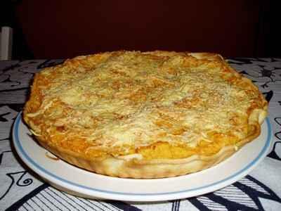recette - tarte d'automne au potimarron