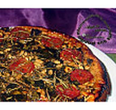 recette - tarte tatin d'aubergines au basilic et romarin