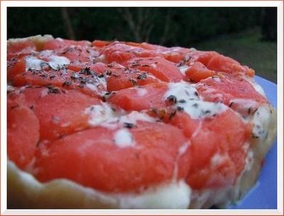 recette - tatin de tomate à la tomme