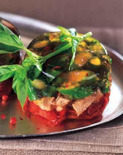 Recette terrine de langue d 39 agneau aux petits legumes facile et rapide - Terrine de legumes facile et rapide ...