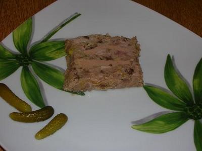 recette - terrine de volaille aux morilles et foie gras