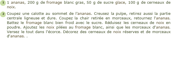 recette ananas au fromage blanc