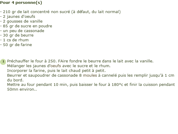 recette cannel�