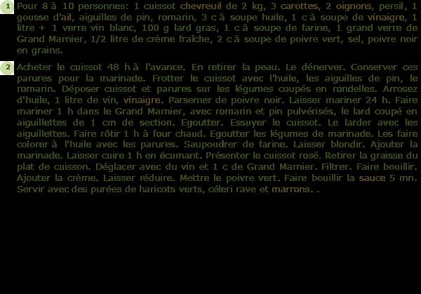 Recette cuissot chevreuil facile et rapide - Cuisiner un cuissot de chevreuil ...