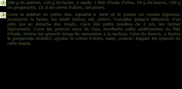 Recette gnocchi de potiron facile et rapide - Cuisiner des gnocchis ...