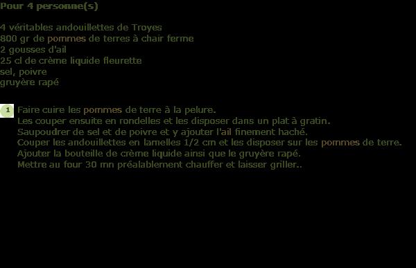 Recette gratin d 39 andouillettes facile et rapide - Cuisiner des andouillettes ...