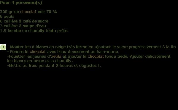 Recette Mousse Au Chocolat Facile Facile Et Rapide