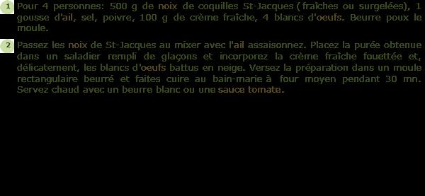 Recette mousseline de coquilles saint jacques facile et - Cuisiner des coquilles saint jacques surgelees ...