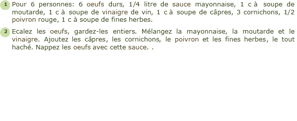 recette oeufs r�moulade