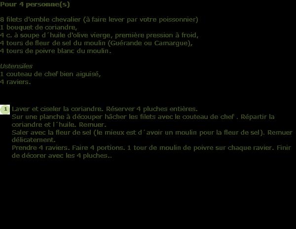 Recette tartare d 39 omble chevalier facile et rapide - Cuisiner l omble chevalier ...