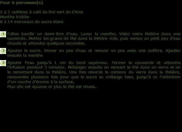 Recette The Berbere A La Menthe Facile Et Rapide
