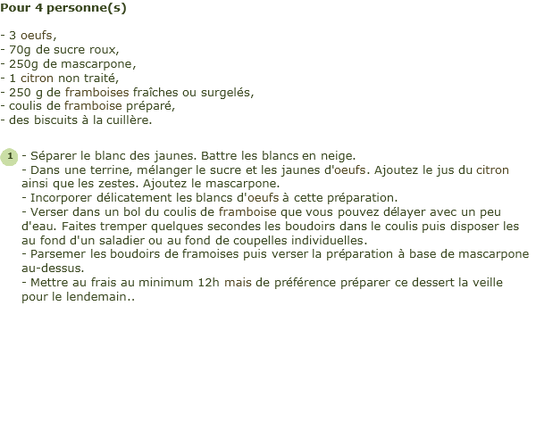 Recette Tiramisu Citron Framboise Facile Et Rapide